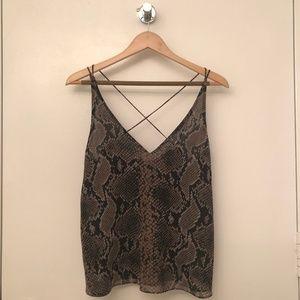Black and Brown Snakeskin Print Zara Camisole